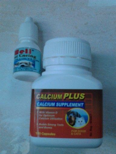Tgl 29 juni 2014 anak caca diberi obat cacing well dan calcium plus