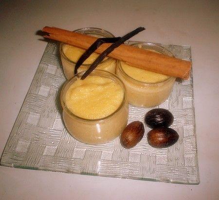 Crème-pudding à la farine de maïs
