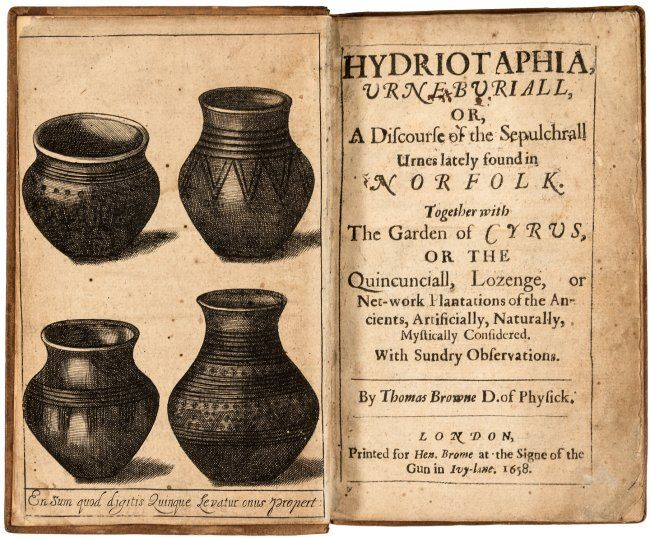 HYDRIOTAPHIA 1658 - Google Search