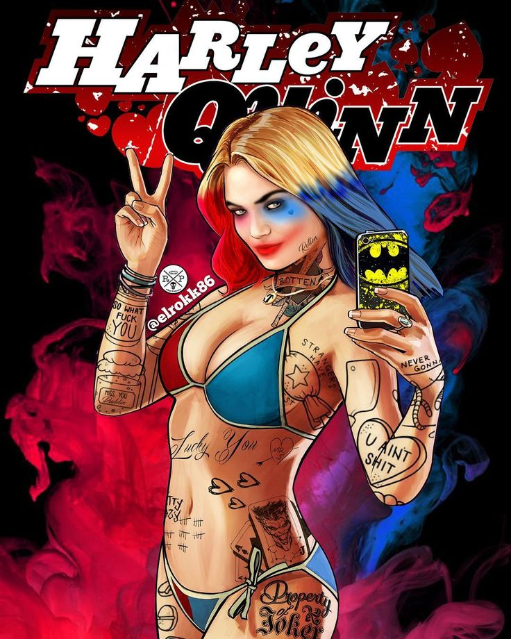 """535 Likes, 1 Comments - VILLAINS (@villainous_empire) on Instagram: """"Harley Quinn redesign and edited from gta5 by @elrokk86…"""""""