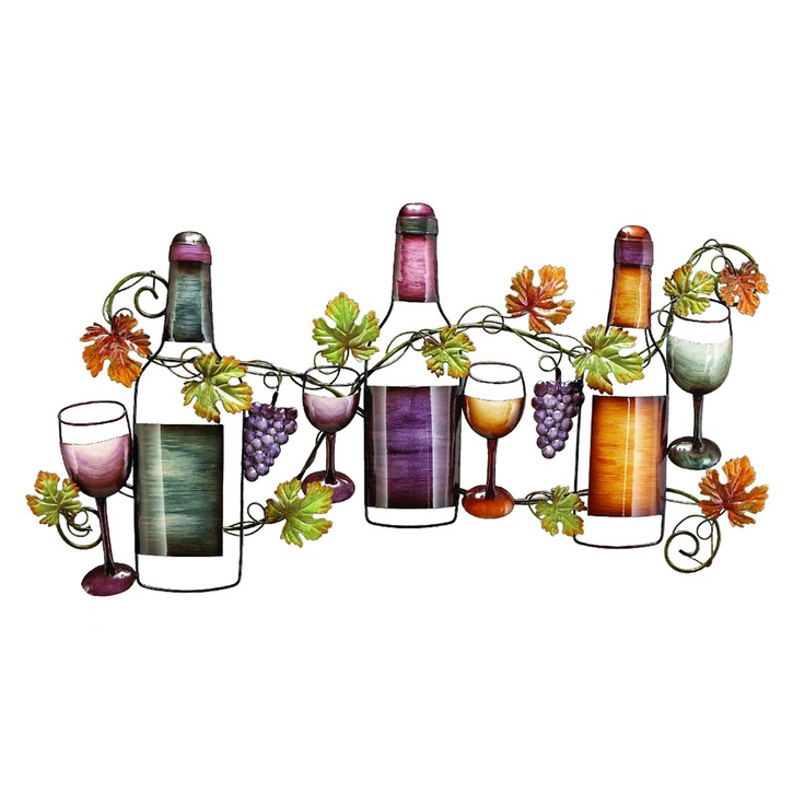 Wine Wall Decor For Kitchen : Uma grapes and vines wine wall decor i would put this in