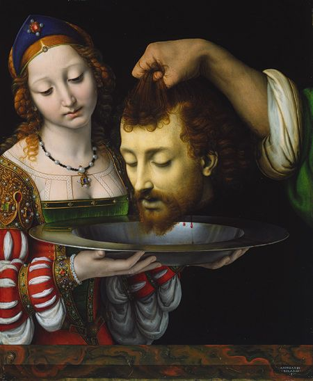 Salome with the Head of Saint John the Baptist, probably ca. 1506–7  Andrea Solario (Italian, Milanese, active by 1495, died 1524)  Oil on wood