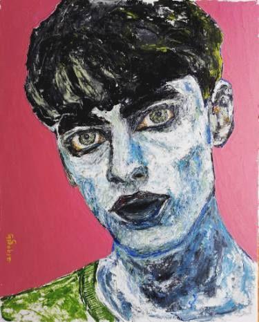 "Saatchi Art Artist George Sabin; Painting, ""Punk"" #art"