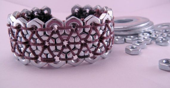 Steampunk Hex Nut Hardware 7.5 Inch Bracelet