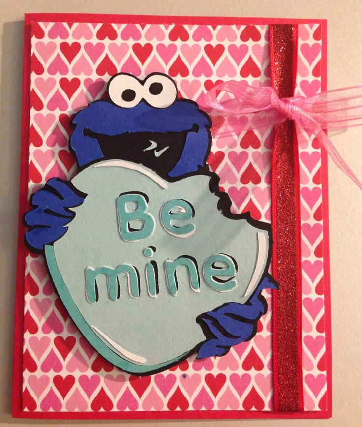 66 best cookie monster images – Monster Valentine Cards