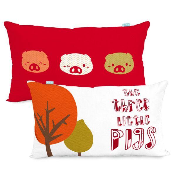 Povlak na polštář Mr. Fox Little Pigs, 50x30 cm