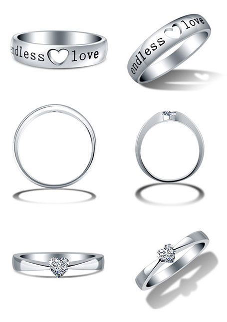 Engagement Ring And Wedding Band Set Matching Promise Rings For S Cute Heart Shaped