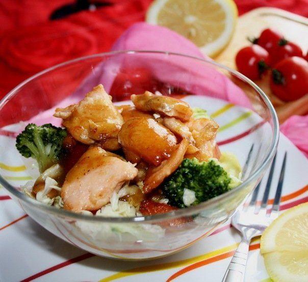 Салат «Изысканный» с красной рыбой