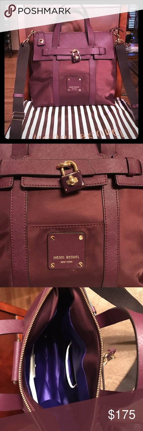 Henri Bendel jetsetter bag small size Gorgeous sold out wine color 🍷 Henri Bendel jetsetter bag. This bag can be worn as cross body, shoulder, hand carry, and back pack. Perfect for traveling!  I only used this bag for 1 week. One pocket in the back. This is the small size of the 2 jetsetter bags.  Dust bag included. henri bendel Bags Crossbody Bags