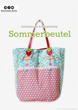 Kostenloses Schnittmuster Nähanleitung: Sommerbeutel mit Taschengriffen   Kreativlabor Berlin