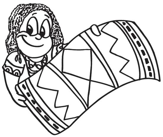 The Girl Happy Kwanzaa Coloring Page
