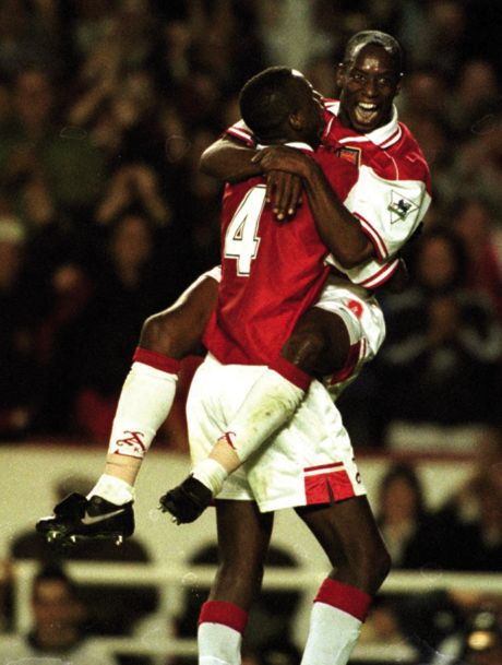 """HERO: """"It was always Patrick Vieira as a kid plus Ian Wright – both when they were at Arsenal."""""""