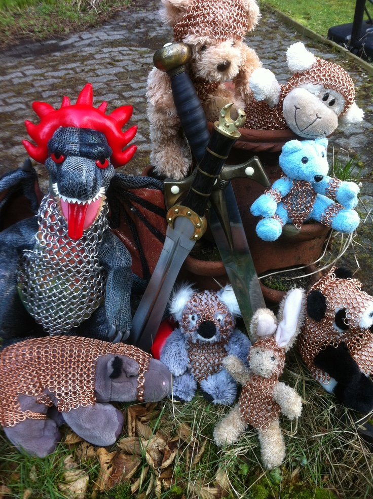 A jumble of armoured stuffies.    Bcchains on FB