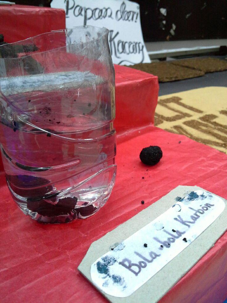 Bola bola karbon penyerap kotoran dalam air