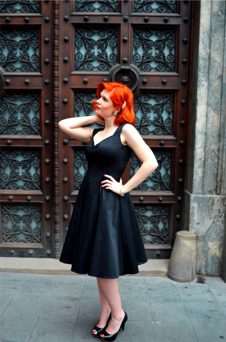 Maria black flared dress    http://ow.ly/MbM5c