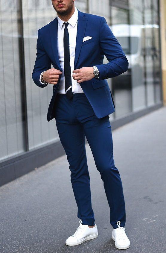 Menstylica u201cShop the look Suit Jacket | Skinny Smart Shirt | Suit Pants | sneakers | Tie world ...