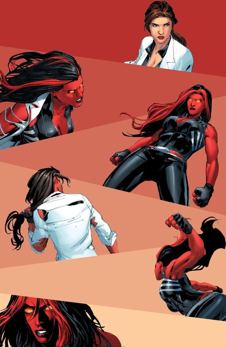 """""""I bring the b e a t i n g to you."""" Betty Ross — Red She-Hulk #58"""
