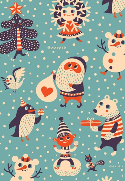 orange you lucky!  Helen Dardik illustration.  Her work is fun, & I find myself wishing she produced fabric with her designs
