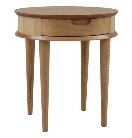 Stockholm Side Table with Drawer - Matt Blatt $295