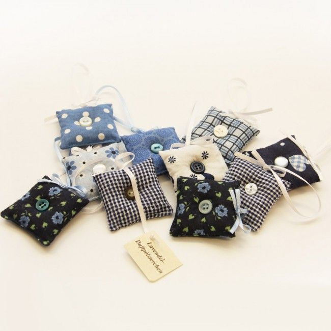 Lavendelsäckchen 10er Set (blau)