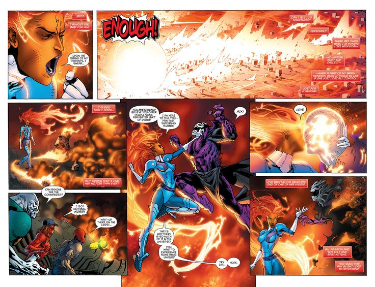 Starfire Comics | Causing a huge explosion and killing the Blight high lord Shows her ...