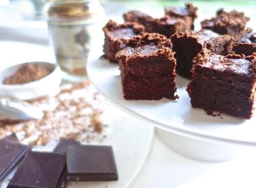 Glutenvrije bloemloze chocolade brownies  - Amber Albarda