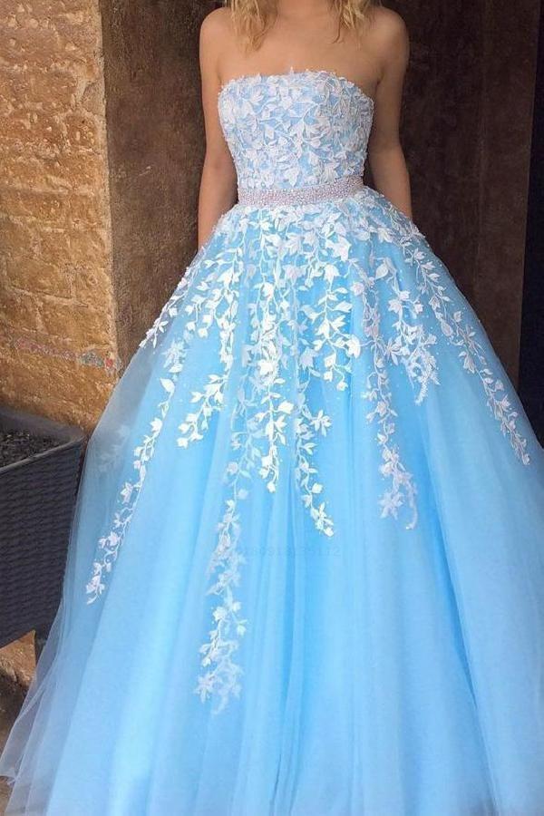 5b897780933 Hot Sale Absorbing Blue Prom Dresses