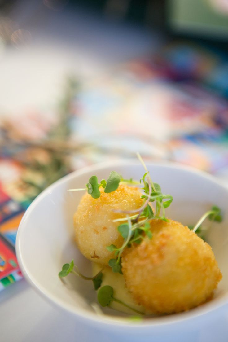 Cauliflower and Parmesan Croquettes as an amuse bouche