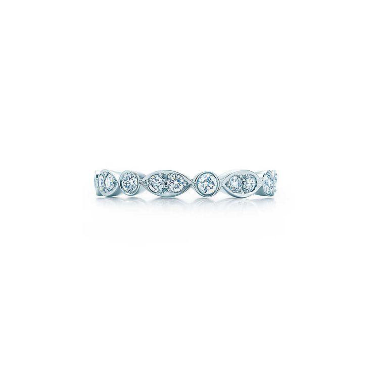 Tiffany Jazz™ ring in platinum with diamonds. | Tiffany & Co.
