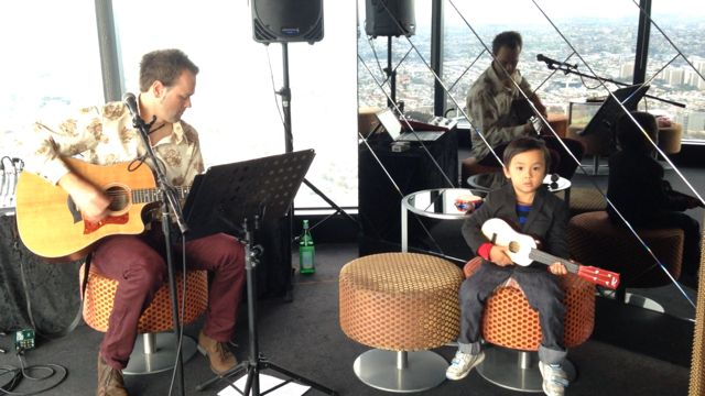 Jamming with a young muso