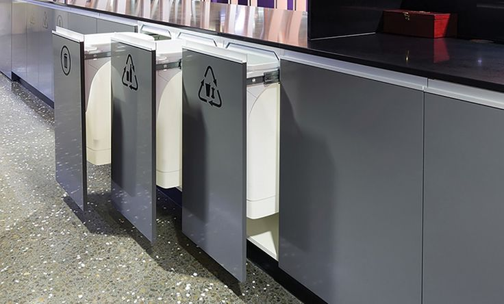 Recycling at ASB Bank Head Office using Hideaway Soft Close 1 x 50L Bin - SC150D-W