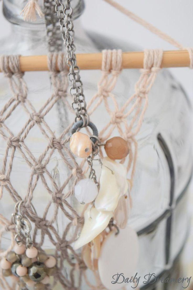 Macramé Ohrhänger Wandbehang