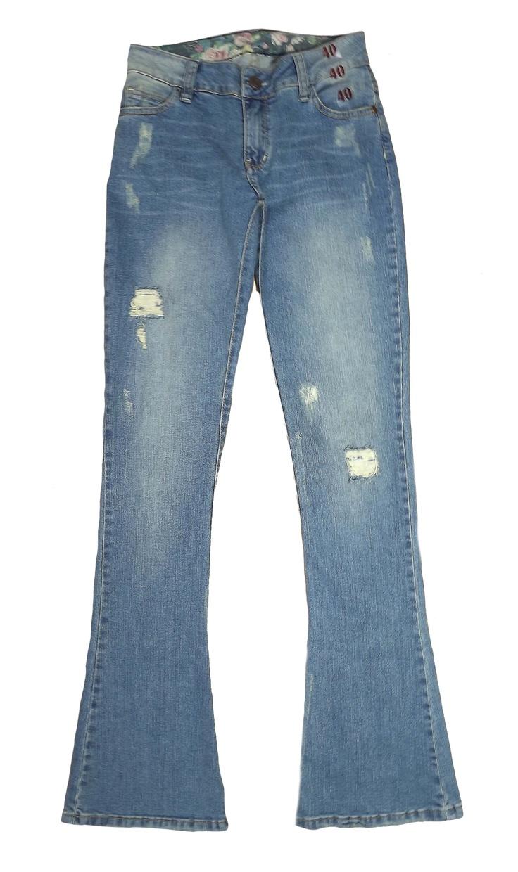 Calça Jeans Flare Rasgadinha