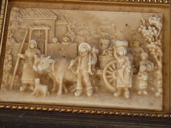 3D COUNTRY RUSTIC SCULPTURE Scene in frame by VintageFaireVT