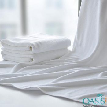 Blank White Soothing Beach Towels Wholesale
