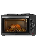 Tower T14013 28L Mini Oven with Double Hotplates Versatile in the extreme, the Tower 28L Stainless Steel Mini Oven with Double Hotplates and Rotisserie, toasts, bakes and grills. Featuring a compact design, this appliance will fit in any kitchen and http://www.MightGet.com/january-2017-11/tower-t14013-28l-mini-oven-with-double-hotplates.asp