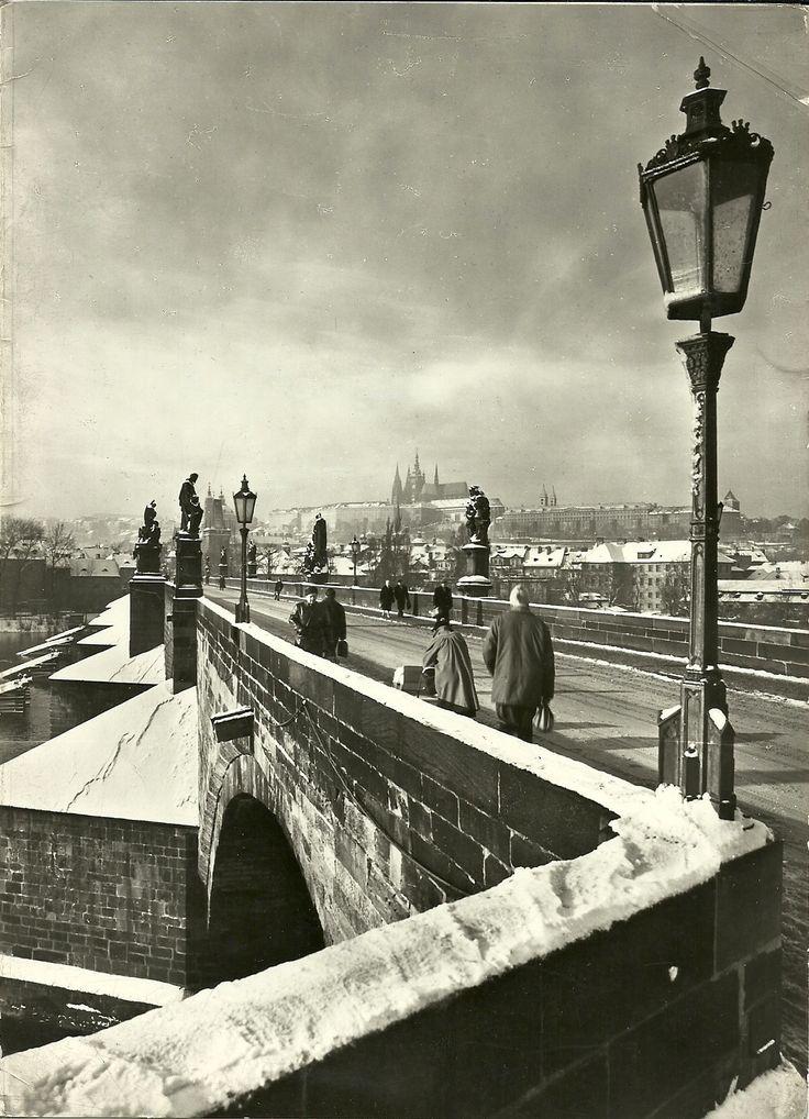 Prague, Charles bridge, written date  1967