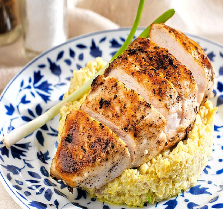 Κοτόπουλο με κινόα, γιαούρτι και μουστάρδα - gourmed.gr