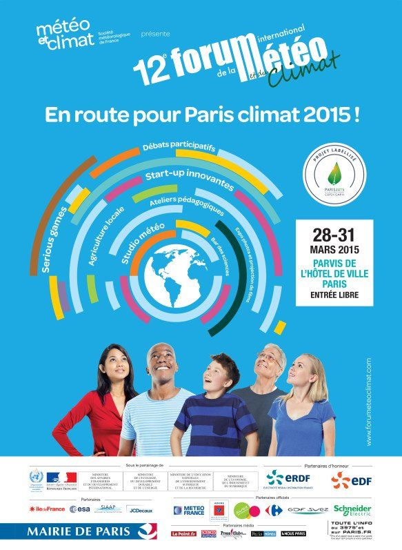 12ème édition du Forum International de la #Météo et du #Climat PARIS​ http://www.pariscotejardin.fr/2015/03/12eme-edition-du-forum-international-de-la-meteo-et-du-climat/