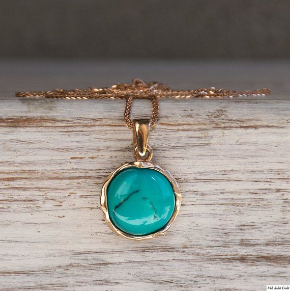 Turquoise Necklace 14k Solid Rose Gold Pendant December Birthstone Necklace Gold Necklace Blue Gemstone Necklace Solid Gold Necklace In 2021 Blue Gemstone Necklace Turquoise Pendant Gemstone Necklace Pendant