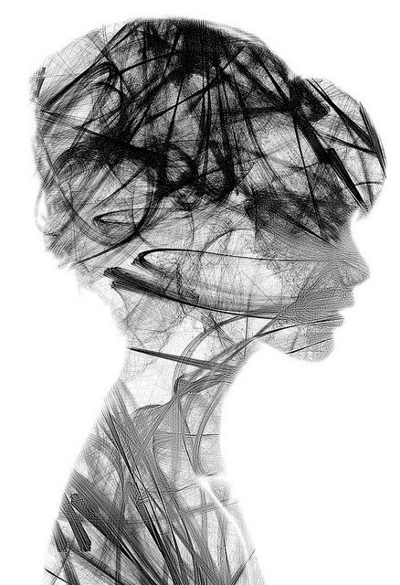 by Sergio AlbiacBlack Ink Drawing, Silhouettes Art, Portraits Drawing, Heart Art, Attractor 01, Graphics Design, Sergio Albiac, Silhouettes Portraits, Sergioalbiac