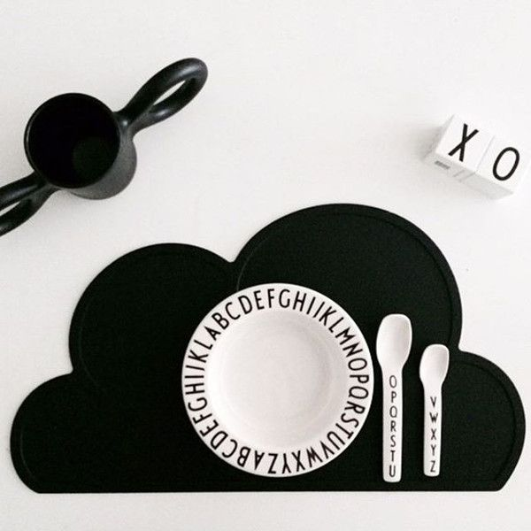 Black Cloud Silicone Placemat - Oh Happy Fry  - 1
