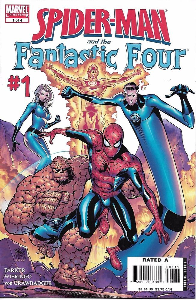 Marvel Spiderman and the Fantastic Four comic issue 1