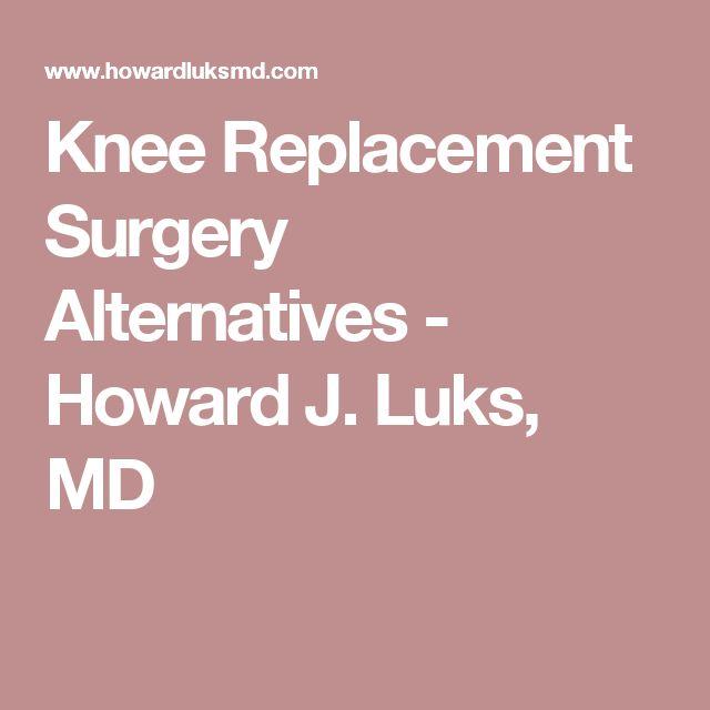 Knee Replacement Surgery Alternatives - Howard J. Luks, MD