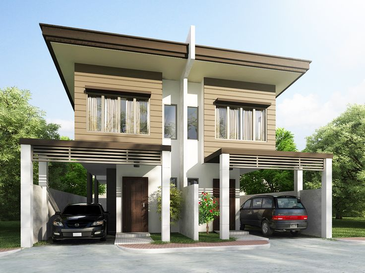 duplex house plan php 2014006 is a four bedroom house plan design including the maids - House Plan Designs