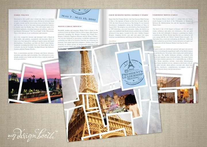 Travel brochure created from a photography studio graphic for Design studio brochure