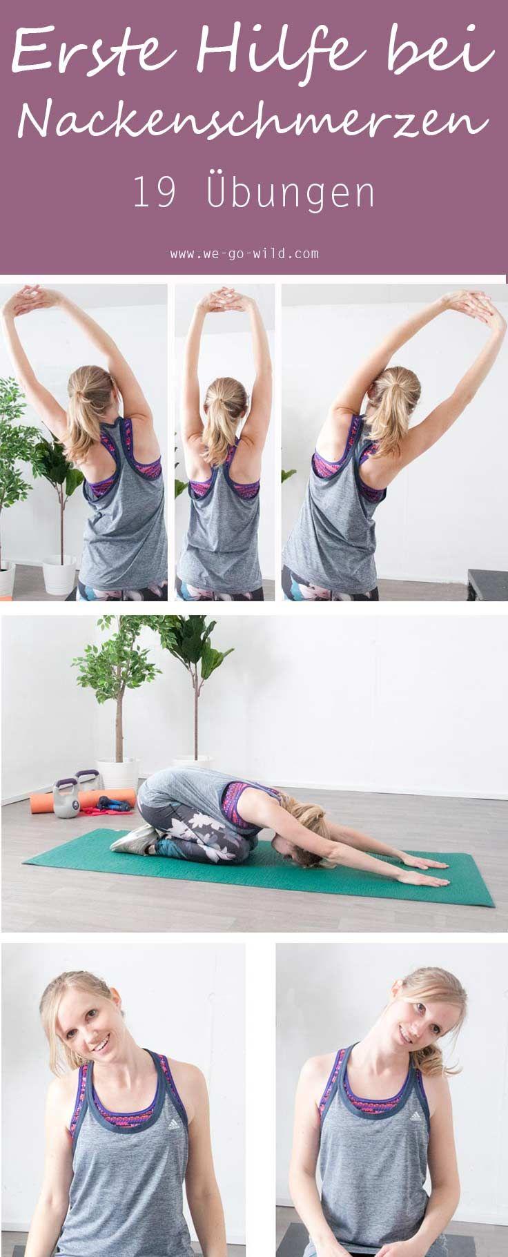 Nackenschmerzen Übungen. Tipps und Tricks gegen einen verspannten Nacken. Diese Übungen helfen dir beim Verspannungen lösen und du bist bald wieder schmerzfrei.  Weil ein verspannter Nacken nicht zu unterschätzen ist.  #übungen #verspannung #nacken