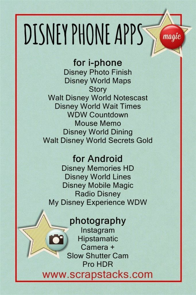 A Magical Scrap Stacks Summer: Disney mobile apps and photography tips