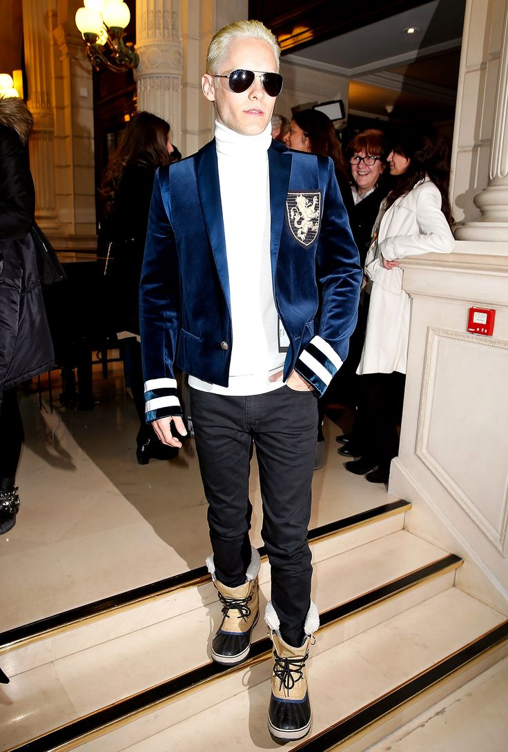 Move over, Kim Kardashian! Jared Leto, who will play The Joker in the upcoming film, Suicide Squad, debuted platinum blonde hair at the Balmain fashion show, too, on Thursday, March 5; see the dramatic hair color makeover here