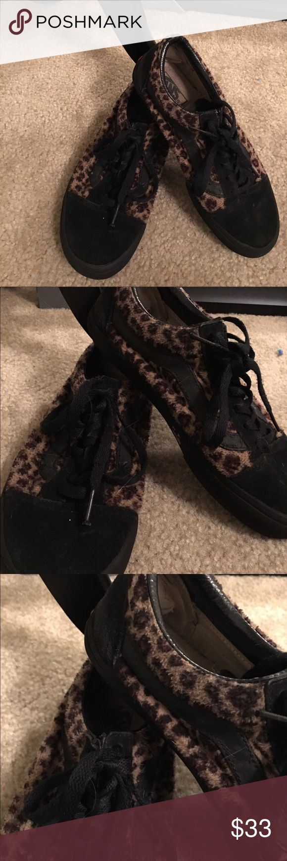 Rare leopard Vans Rare vans with leopard print used but in awesome condition- haven't worn in a few years Vans Shoes Sneakers